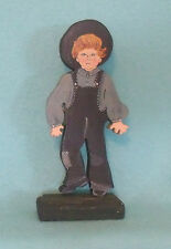 Folk Art Amish Boy Wooden Figure
