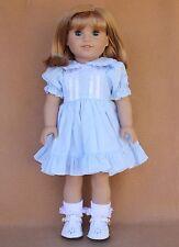 Doll SET fitting 18 in & American Girl Dolls LT Blue Dress White Shoes Socks!