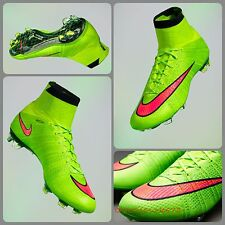 Sz 11.5 Nike Mercurial Superfly FG Football Boots 641858-360 Electric Green