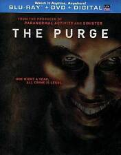 The Purge NEW Bluray & DVD disc/case/cover only-no digital/slip- crime is legal