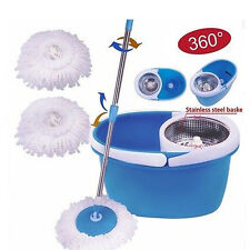 BLL-22B 360°Rotating Stainless Steel 2 Heads Magic Mop Dehydrate Basket Bl