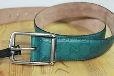 AUTH Gucci Men Green GG Guccissima Leather Belt 95/38