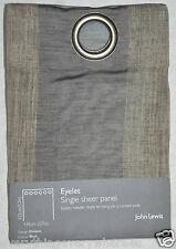 John Lewis Division Black Eyelet Single Sheer Panel 145cm x 132cm