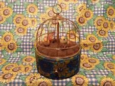 Vintage  1950-60's Mechanical Bird Cage Music Box In Excellent Working Condition
