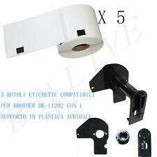 5 Etichette per Brother DK-11202 62X100mm QL 500 QL 500A QL 550 QL 560 VP QL 570