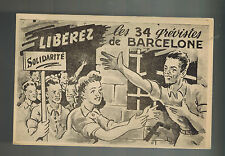 1952 France Postcard Cover to UN Secretary Freedom for Spain Political Prisoners