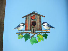 NEXT INNOVATIONS-Chickadees Steel Wall Art Decor-Indoor or Out-New