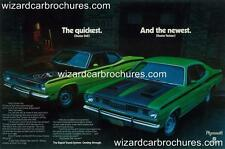1971 PLYMOUTH DUSTER 340 TWISTER RTS A3 POSTER AD SALES BROCHURE MINT