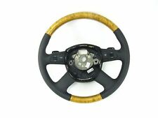 New OEM Genuine Audi Tiptronic Steering Wheel Birch Wood & Leather A4 A6 A8 Q7