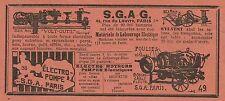 W6206 Matèriels de Labourage Electrique S.G.A.G._Pubblicità 1934 - Advertising