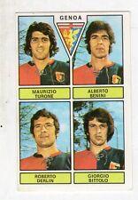 figurina - CALCIATORI PANINI 1971/72 NEW - GENOA TURONE, BENINI, DERLIN, BITTOLO
