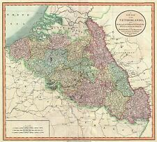 MAP ANTIQUE CARY 1804 NETHERLANDS HISTORIC LARGE REPLICA POSTER PRINT PAM0742
