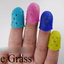 Hot 4X Guitar Fingertip Protectors Silicone Finger Guards for Thumb Bass/Ukulele