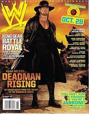 WWE November 2007 Wrestling Magazine The Undertaker Cena POSTER tna wrestler