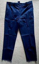 Red Kap Insect Shield Mens Navy Blue Unhemmed Cotton Work Pants SZ 46 ~ NEW!