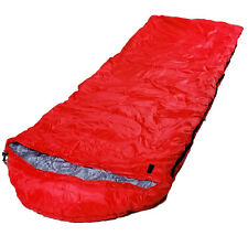 RED ADULT SINGLE CAMPING 2-3 SEASON SUMMER WINTER FESTIVAL MUMMY SLEEPING BAG