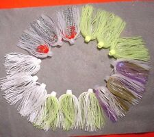"""15 BIO-FLEX X-FACTOR COLORS """"SKIRTS PLUS"""" HOLE N ONE SILICONE SPINNERBAIT SKIRT"""