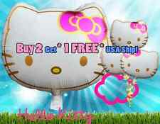 Hello Kitty Birthday Party Balloons Balloon Pink & Gold Head Edition