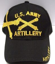 U.S. ARMY ARTILLERY Veteran Cap/Hat Black Military Style 2*Free Shipping*