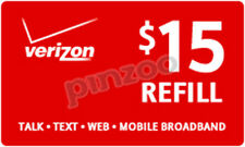 VERIZON REFILL MINUTES $15 CARD ON SALE ONLY $14.95