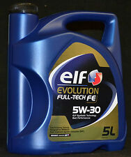 5 Liter Elf EVOLUTION FULL-TECH FE ( SOLARIS DPF ) 5W-30 Motoröl Renault 5W-30