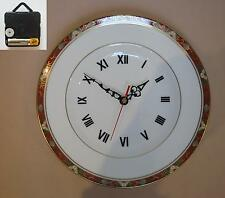 "Royal Crown Derby ""Cloisonne"" 10.5"" Wall Hanging Plate CLOCK"