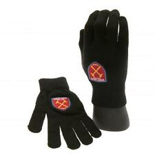 West Ham United Fc Utd Knitted Gloves Kids Childs