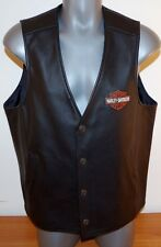 Harley Davidson Stock Leather Vest 98150-06VM Bar Shield Embroidery MENS XL