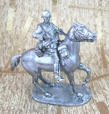 54 mm Tin Miniature sculpture Figurine Toy Rider Horse German soldiers on horses