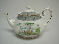 "VINTAGE ROYAL ALBERT SILVER BIRCH LARGE 5 1/2"" TEAPOT"