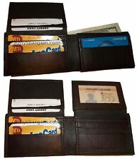 Lot of 2 Men's Bifold Leather Wallet 12 Credit Card slots 2 ID 2 Billfold Pocket