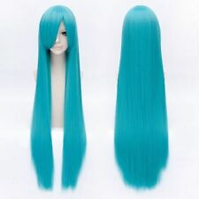 Hatsune Miku Charming Long Straight Stylish Lake Blue Cosplay Wig Hair