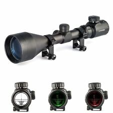 3-9x56e Red & Green Mil Dot Air Rifle Gun Optics Sniper Hunting Scope Sight