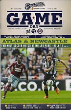ATLAS & NEWCASTLE ON COVER MILWAUKEE BREWERS 2015 OFFICIAL PROGRAM ISSUE #13
