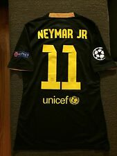 Neymar Jr FC Barcelona 2013-14 Player Issue UCL Match Shirt Un Worn
