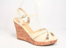 Women's Strappy  Open Toe Buckle Wedge Platform Sandal Shoes Size 5.5 - 10 NEW