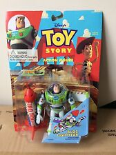 Rare Original Disney Toy Story Buzz Lightyear Rocket Version Figure Sealed