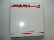 Detroit Diesel MBE Elect Controls TROUBLESHOOTING GUIDE Shop Service Manual 2006