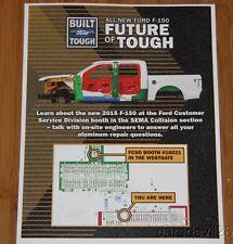 "2014 Ford F-150 ""Future of Tough"" SEMA Show Promo info card"