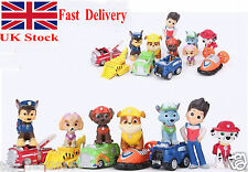 12pc/Set Paw Patrol Cake Toppers Action Figures Puppy Patrol Dog Kids Toy Gift