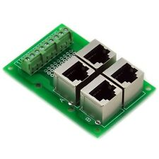 RJ45 8P8C Jack 4-Way Buss Breakout Board.