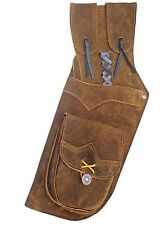 TRADITIONAL LEATHER SIDE/HIP ARROW QUIVER AQ112 L/H BROWN