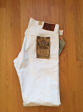 RRL Ralph Lauren Slim Fit Jeans White 36 X 32 New $300