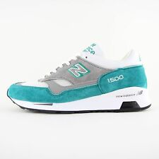 New Mens New Balance 1500 Made In England Teal Grey Suede Trainers 7 M1500TG BNB