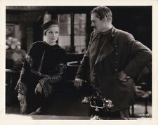 GRETA GARBO LIONEL BARRYMORE Original Vintage 1931 MATA HARI MGM Espionage Photo
