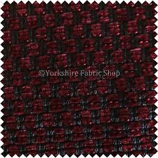 New Durable Textured Red Colour Woven Hopsack Soft Upholstery Furniture Fabric