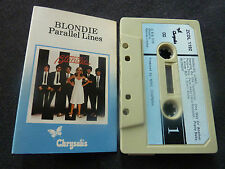 BLONDIE PARALLEL LINES ULTRA RARE UK CASSETTE TAPE! X