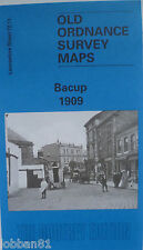 Old Ordnance Survey Detailed Map  Bacup Lancashire 1909 Sheet 72.11 New
