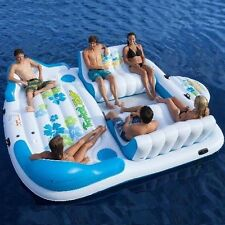 Tropical Inflatable Float Island Sport Water Sport Swim Design Portable 6-Person