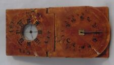Antique,Japanese, Wooden Sundial,Compass